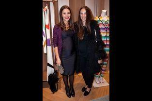 Tatiana Santo Domingo avec Margherita Missoni à Paris, le 27 janvier 2015