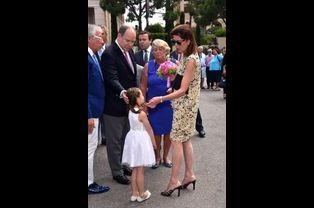 Le prince Albert II de Monaco et la princesse Caroline de Hanovre à Monaco, le 30 mai 2015