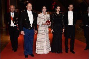 Albert de Monaco, Caroline de Hanovre, Tatiana et Andrea Casiraghi