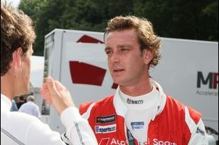 Pierre Casiraghi lors de l'Audi Sport TT Cup à Norisring en Allemagne, le 26 juin 2015