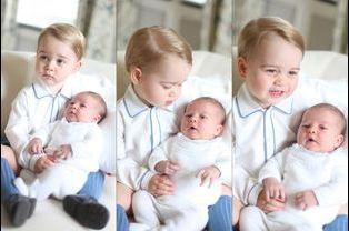 Le prince George avec Charlotte