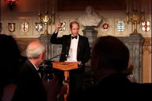 Le prince William au 25e anniversaire du Tusk Trust au château de Windsor, le 21 mai 2015