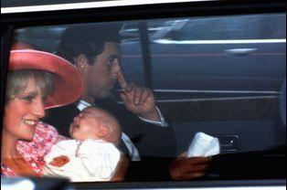 Baptême du prince William à Buckingham, le 4 août 1982