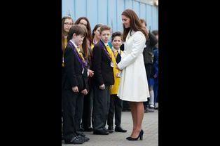Kate ex-Middleton à Portsmouth, le 12 février 2015