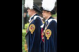 Les princes Andrew et Edward à Windsor, le 15 juin 2015
