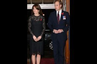 Kate et William lors du Festival of Remembrance au Royal Albert Hall à Londres, le 7 novembre 2015