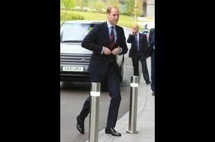 Le prince William arrive au St George's Park à Burton upon Trent, le 20 mai 2015