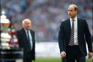 Le prince William à la finale de la Coupe d'Angleterre de football à Wembley, le 30 mai 2015
