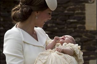 La princesse Charlotte le jour de son baptême, dimanche 5 juillet 2015.