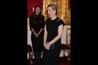 Sophie de Wessex au palais St James à Londres, le 28 avril 2015
