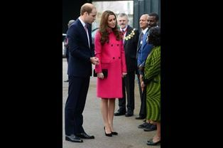 La duchesse Kate avec le prince William le 27 mars 2015