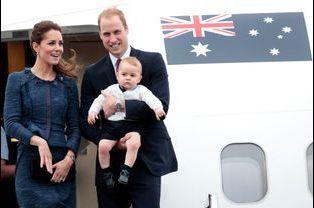 Le prince George avec Kate et William, le 16 avril 2014