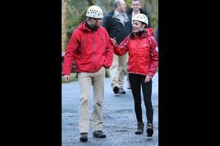 Le prince William et la duchesse de Cambridge Kate à Capel Curig en Galles du Nord, le 20 novembre 2015