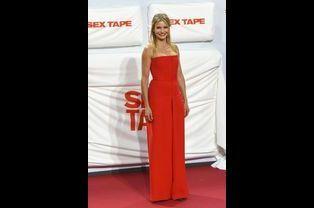 """L'actrice Cameron Diaz en Christian Dior pour la première du film """"Sex Tape"""" à Berlin, le 8 septembre 2014"""