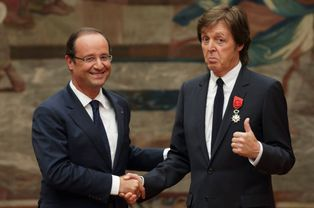 Le 8 septembre 2012, remise de légion d'honneur à Paul McCartney