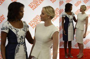 Michelle Obama et Charlène au déjeuner du Studio Museum mardi