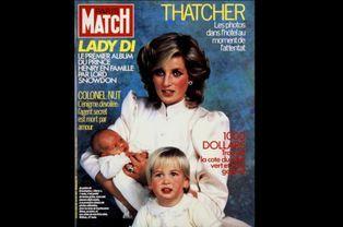 Lady Di et ses fils (N° 1848 - 26 Octobre 1984)