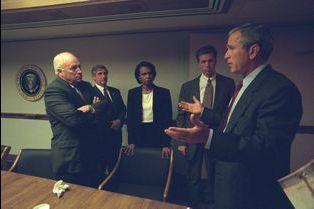 La cellule de crise de Washington après le 11 septembre