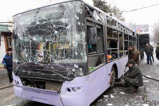 Donetsk attaquée en plein coeur