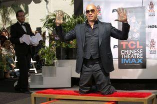 Vin Diesel laisse son empreinte sur Hollywood