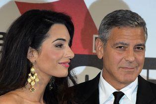 Un premier tapis rouge pour George et Amal