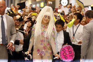 Arrivée en fanfare au Japon pour Lady Gaga