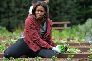 Michelle Obama, le sourire et la main verte