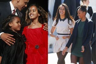 Malia et Sasha Obama, leur évolution en images