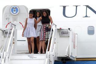 Malia et Sasha ambassadrices avec Michelle Obama