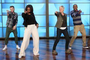 La First Lady met Ellen DeGeneres au défi