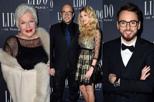Les célébrités découvrent la nouvelle revue du Lido
