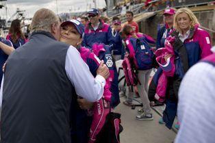 Juan Carlos retrouve la princesse Victoria à Göteborg