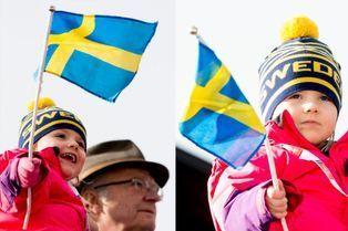 Estelle fervente supportrice des skieurs suédois