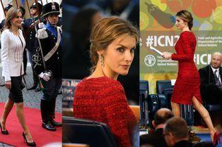 Letizia, flamboyante à Rome