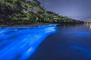 La mer australienne illuminée