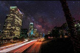 La nuit étoilée de Los Angeles