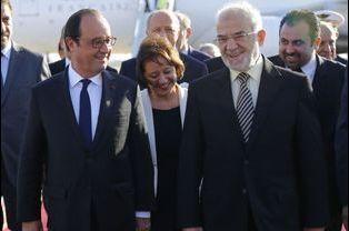 Avec le ministre des Affaires étrangères Ibrahim al-Jaafari