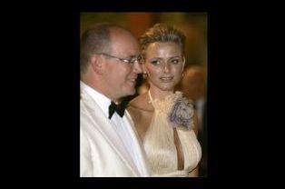 Albert et Charlène ,à l'été 2008, au gala annuel de la Croix Rouge