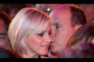 Albert et Charlene au Bal de la rose en 2008 à Monte-Carlo