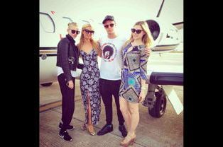 Paris Hilton quittant Ibiza