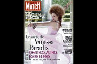 Vanessa Paradis en couverture de Paris Match en décembre 2010