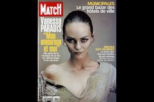 Vanessa Paradis en couverture de Paris Match en mars 2001