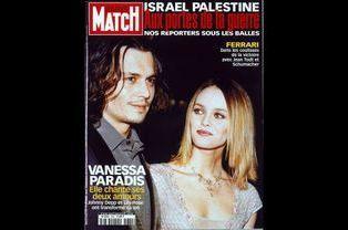 Vanessa Paradis en couverture de Paris Match en octobre 2000