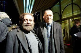 Marek Halter arrive au 30ème dîner du Crif à Paris, le 23 février 2015