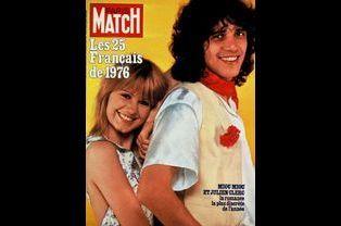 Miou-Miou et Julien Clerc pour la couverture du numéro 1441, le 7 janvier 1977