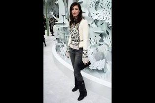 Anna Mougladis au défilé Chanel Haute-Couture
