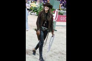 Jessica Springsteen déguisée pour le Gucci Paris Masters à Paris, le 6 décembre 2014