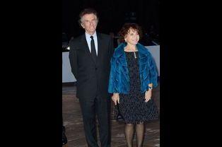 Jack Lang et son épouse, Monique, à l'inauguration de la Fondation Louis Vuitton le 20 octobre 2014 à Paris