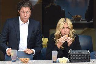 Heidi Klum et Vito Schnabel à la finale de l'US Open à New York, le 8 septembre 2014.