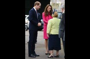Kate née Middleton et le prince William arrivent au Stephen Lawrence Centre à Londres, le 27 mars 2015